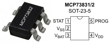 MCP73831-2-pinout