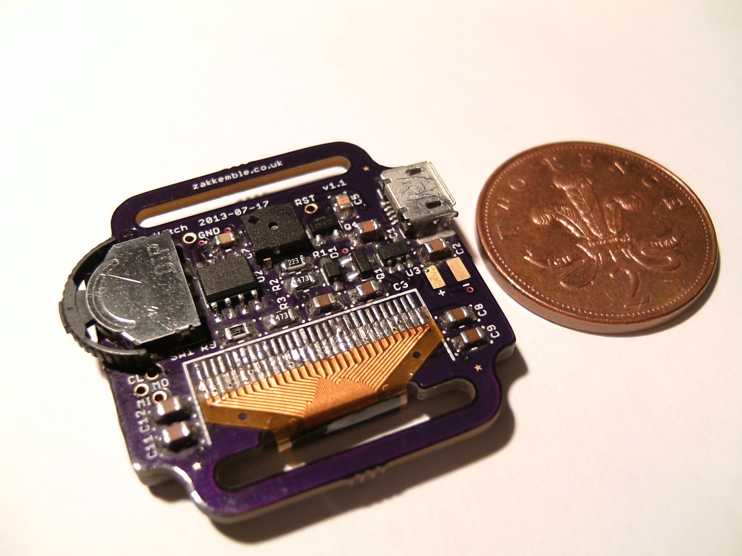 Diy Digital Wristwatch Zaks Electronics Blog Usb Player Circuit Diagram Also Pic Programmer On Avr Underside