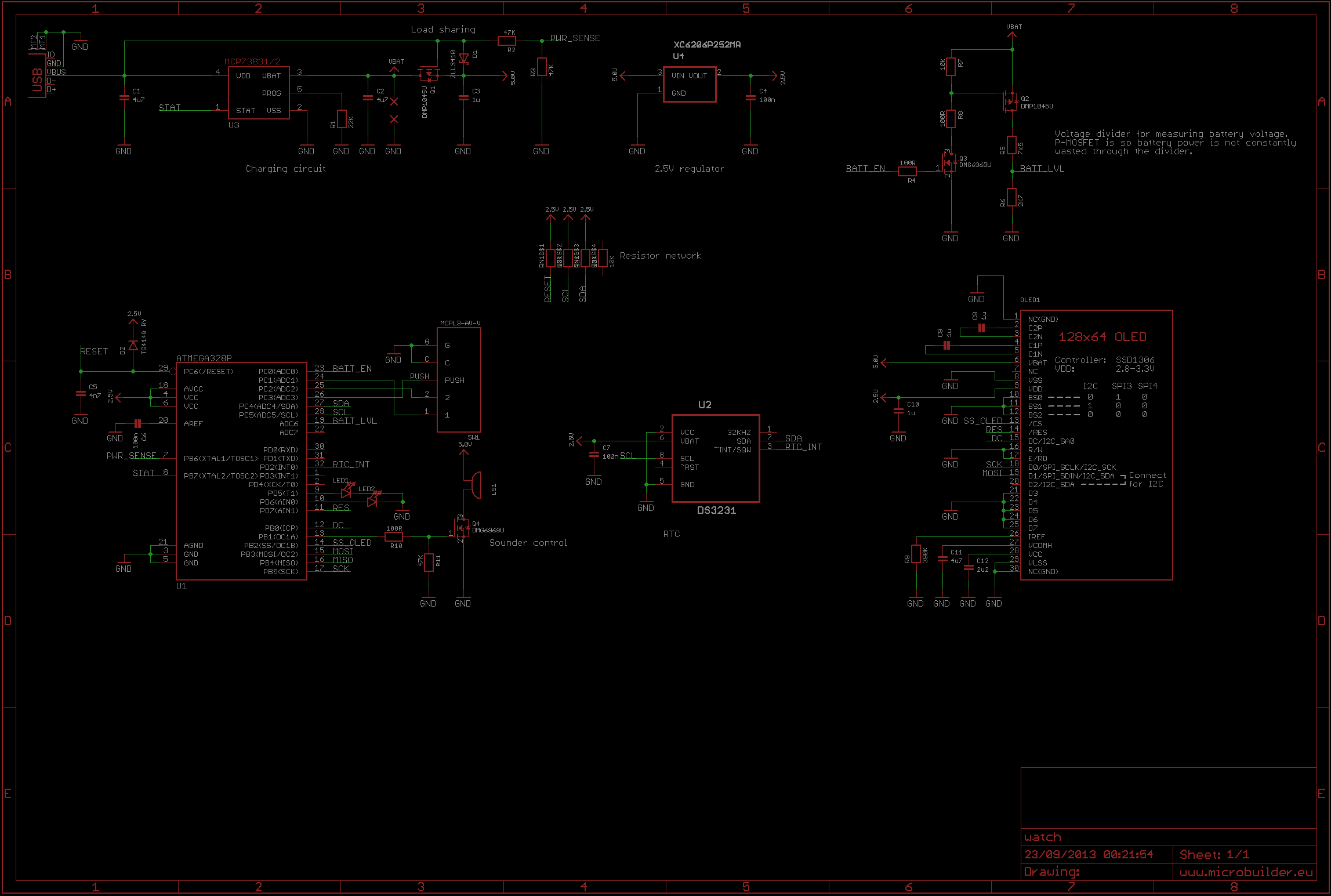 Diy Digital Wristwatch Zaks Electronics Blog Intro 41 Led Flasher Circuit Using 555 Ic I Made This As A Quick Schematic
