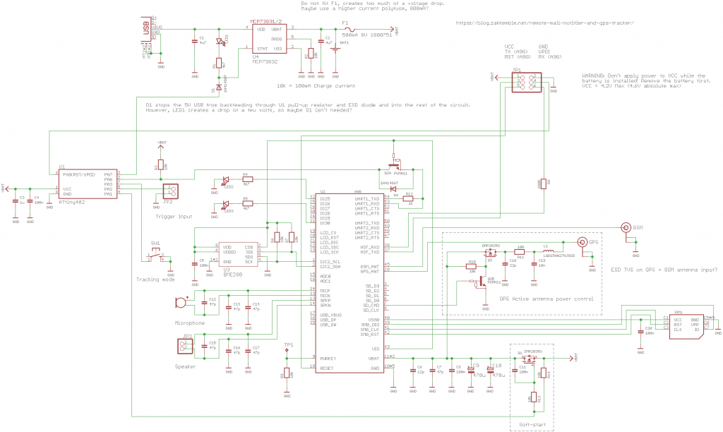 Mail notifier schematic